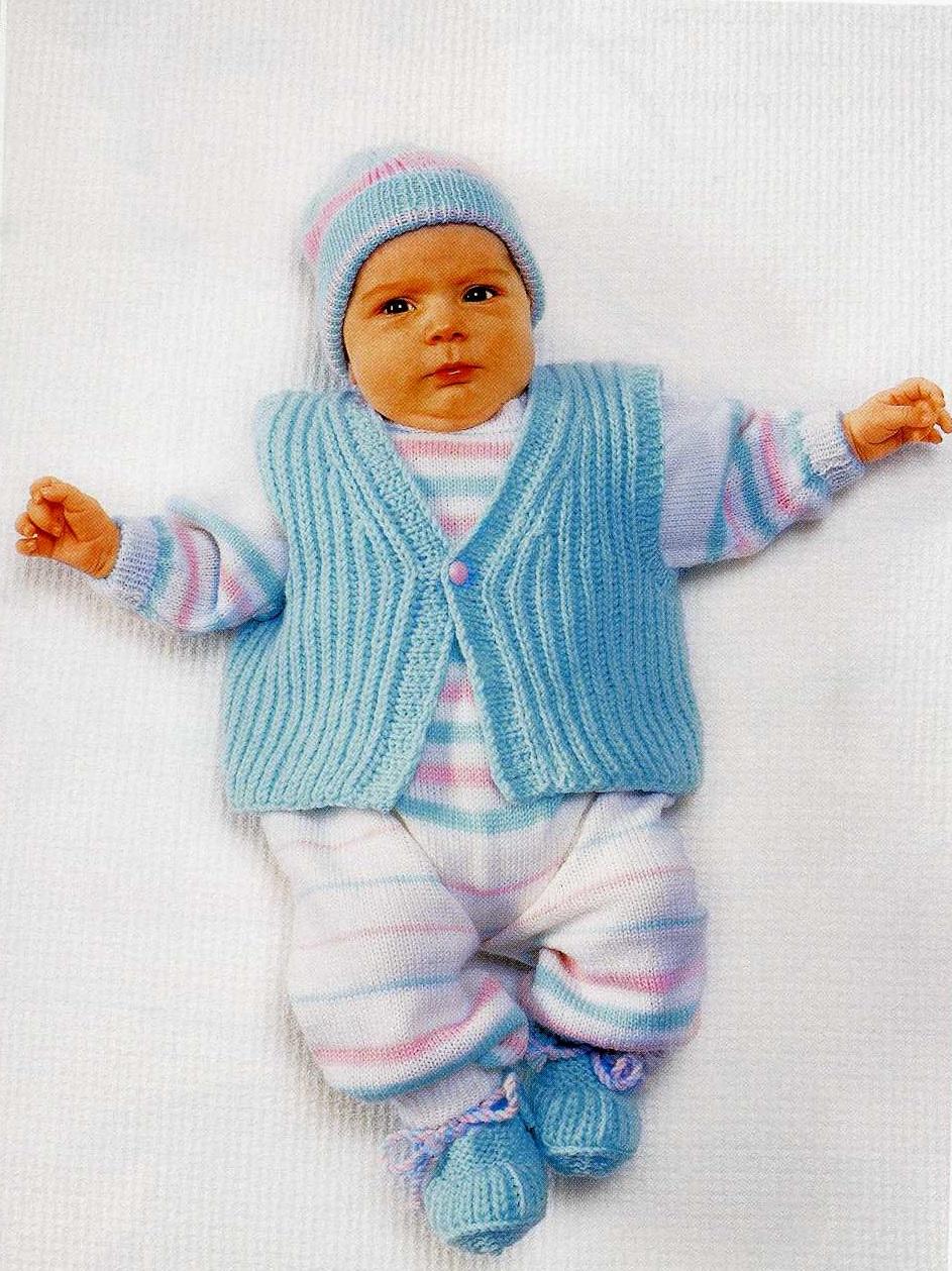 Вязание спицами жилетка для малыша 80
