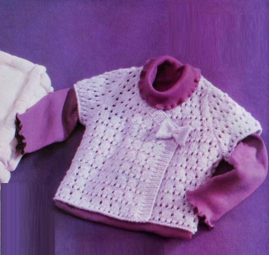 Вязание кофточка для малышки 189